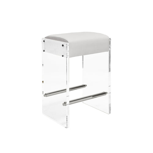 Worlds Away Indy Acrylic Counter Stool