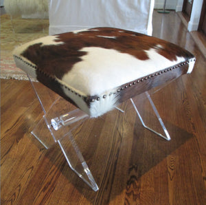 Jamie Dietrich Lucite Stool Hide Top