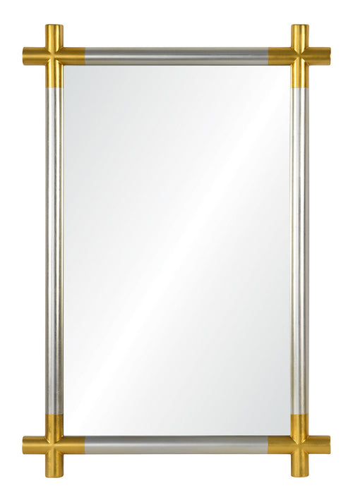 Mirror Image Home Cosmo Silver and Gold Mirror