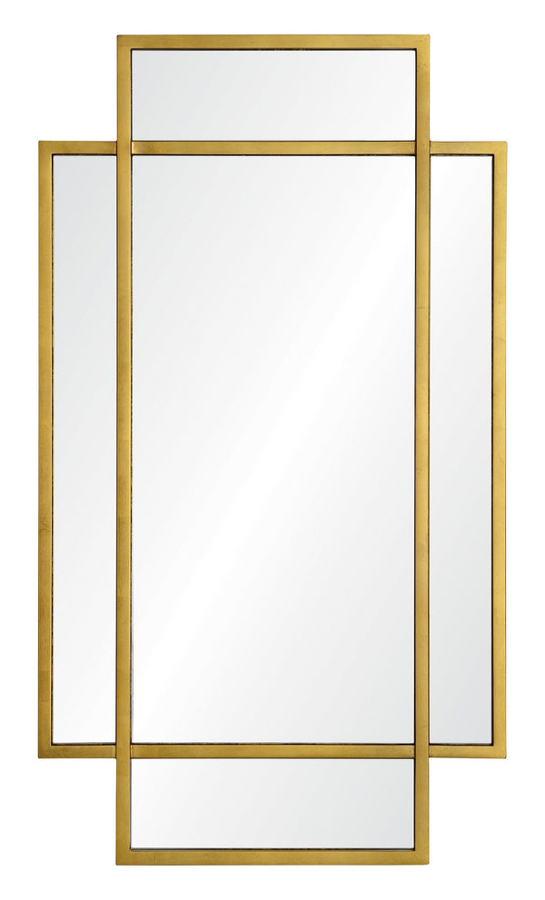 Jamie Drake for Mirror Image Home, Cosmo Window Mirror in Gold Leaf