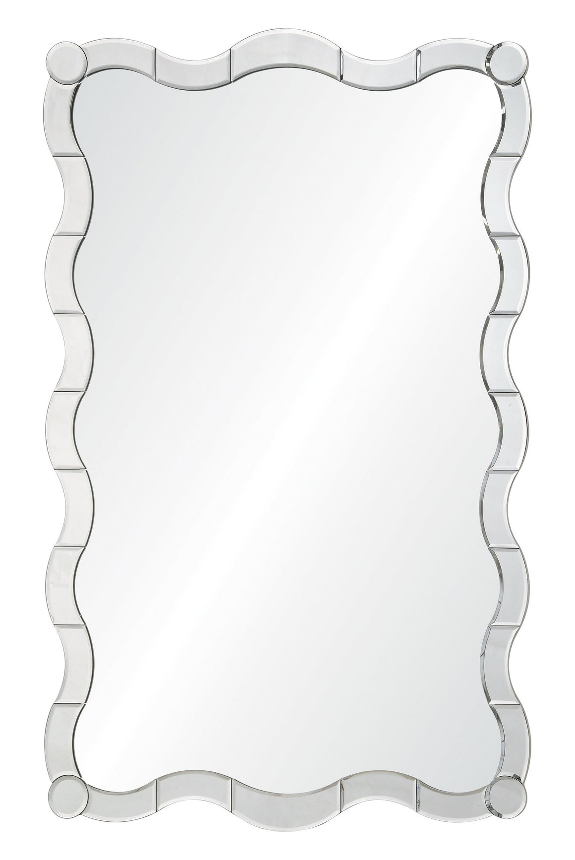Jamie Drake for Mirror Image Home Cosmopolitan Silver Leaf Mirror