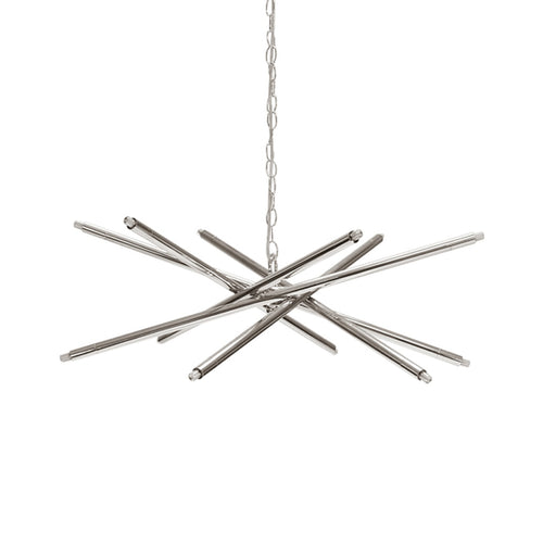 Worlds Away Luisa Chandelier in Nickel