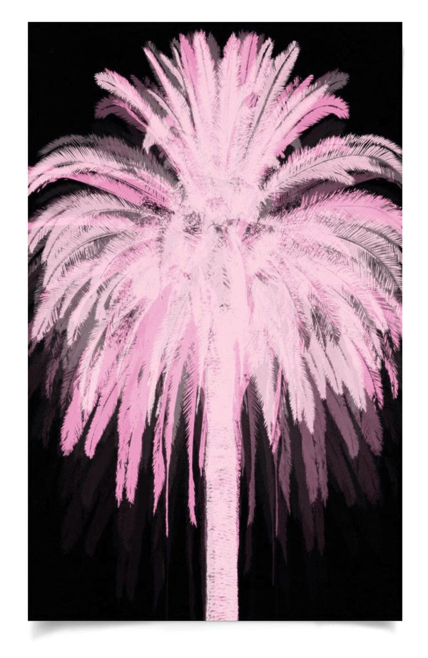 Natural Curiosities Pink and Black Palm Art