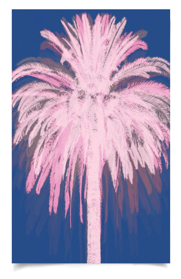 Natural Curiosities Pink and Blue Palms Art