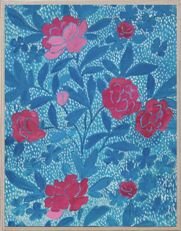 Paule Marrot Blue Floral Artwork by Natural Curiosities