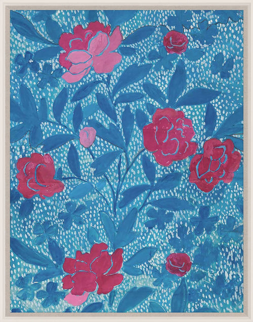 Paule Marrot Floral Blue Art by Natural Curiosities