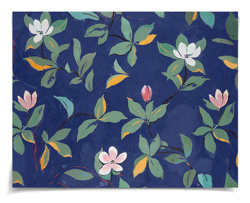 Paule Marrot Blue and Pink Magnolia Art