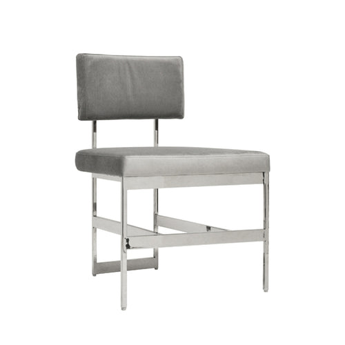 Worlds Away Shaw Dining Chair, Grey
