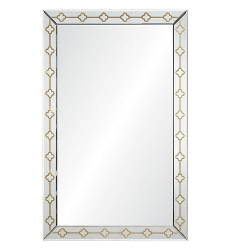 Suzanne Kasler for Mirror Image Home, Gold Inlay Wall Mirror
