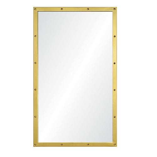 Suzanne Kasler for Mirror Image, Rectangular Wall Mirror in Burnished Brass