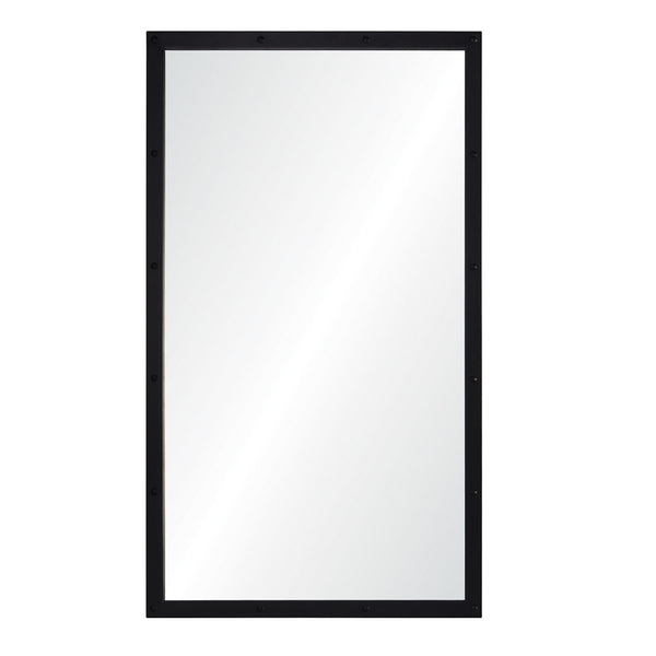 Suzanne Kasler for Mirror Image, Rectangular Black Nickel Wall Mirror
