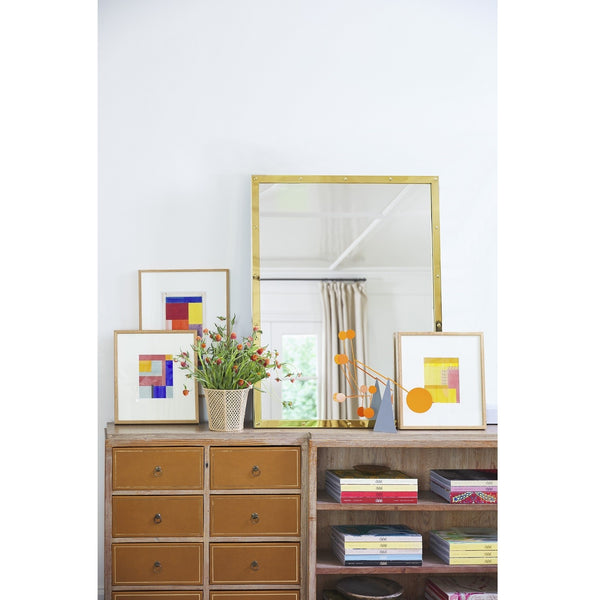 Suzanne Kasler for Mirror Image, Rectangular Studded Wall Mirror