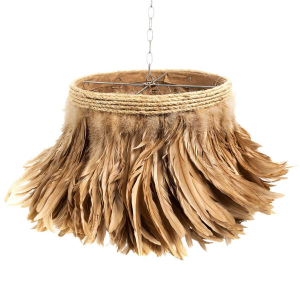 Jamie Dietrich Designs Camel Feather Pendant Light