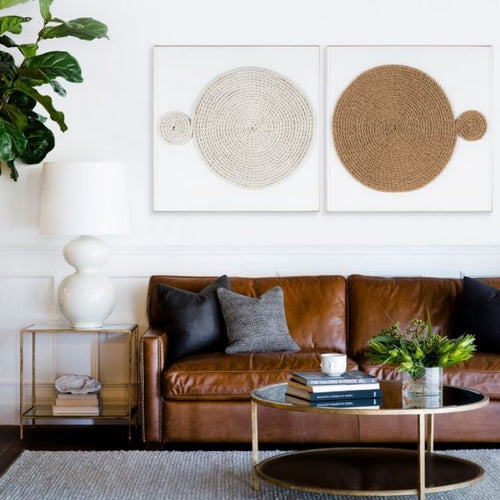 Unwind Wall Art in White by Natural Curiosities