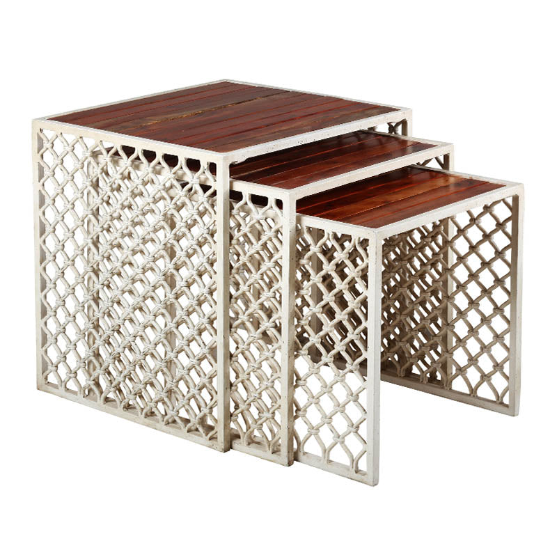 Bobo Intriguing Objects Jali Outdoor Nesting Tables (Set of 3)