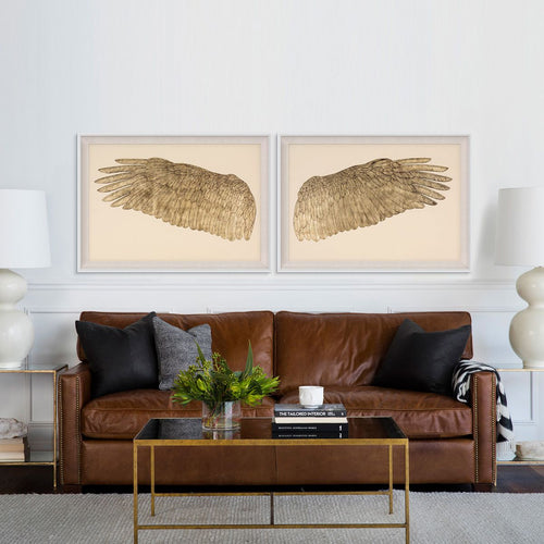 Natural Curiosities Wings of Love in Gold Art, Right