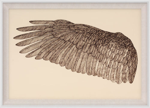 Natural Curiosities Wings of Love Art, Left