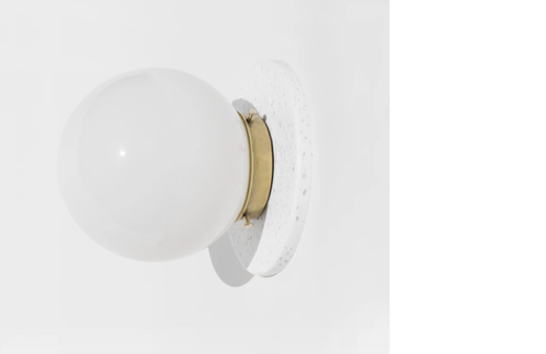 Yield Design Lunar Sconce in White