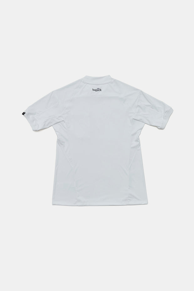 Mock Neck Polo/WHITE/BGW-K26
