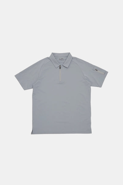 S/S Vis Zip Polo/GRAY/BGW-K33