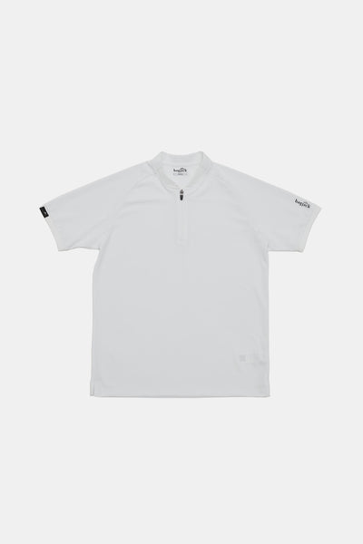 S/S Zip Polo/WHITE/BGW-K38