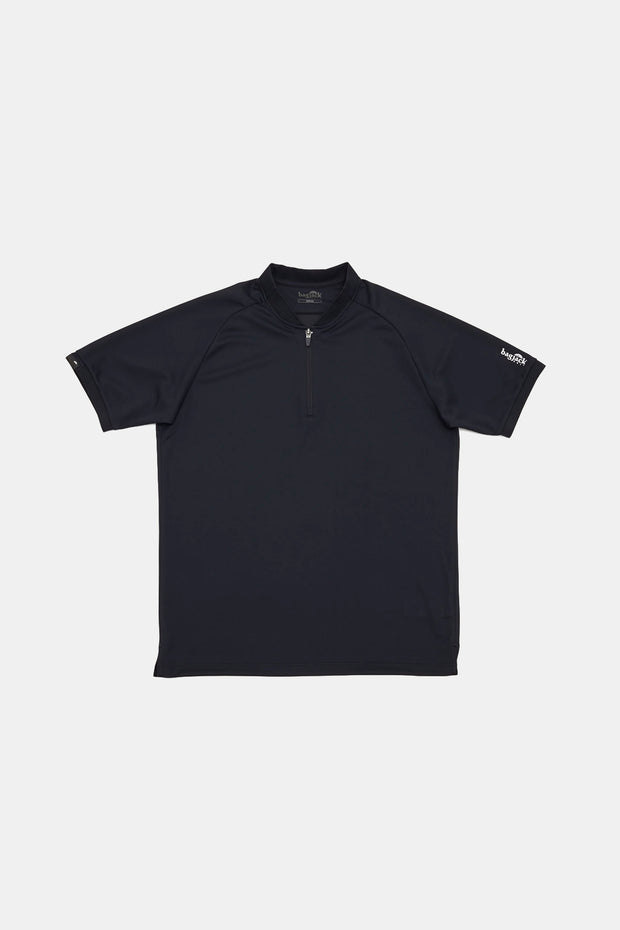 S/S Zip Polo/BLACK/BGW-K38