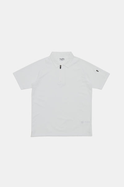 S/S Vis Zip Polo/WHITE/BGW-K33