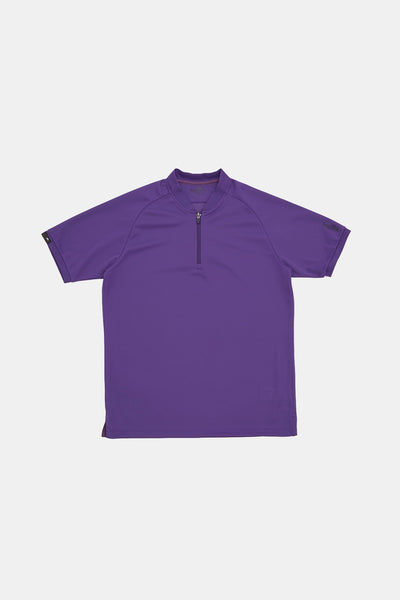 S/S Zip Polo/PURPLE/BGW-K38