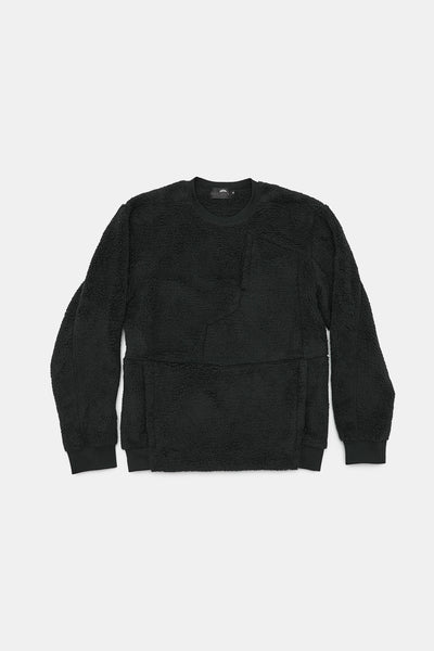 L/S 2 Side Sheep Boa Crew/BLACK/BGW-K07