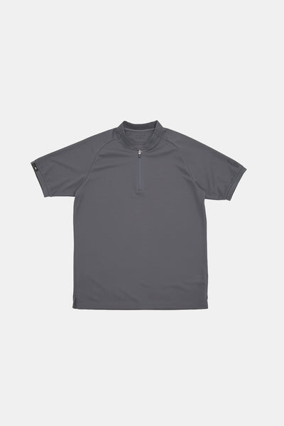 S/S Zip Polo/DARK GRAY/BGW-K38