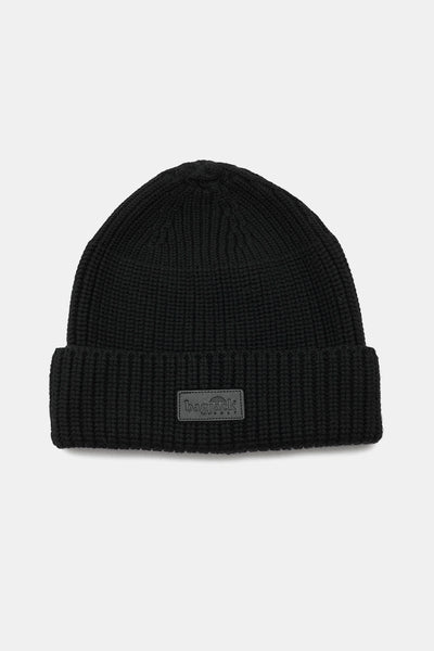 Beanie - Leather Patch/BLACK/BGA-C06