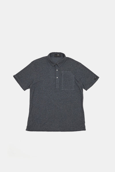 S/S Pile Polo/CHARCOAL GRAY/BGW-K34