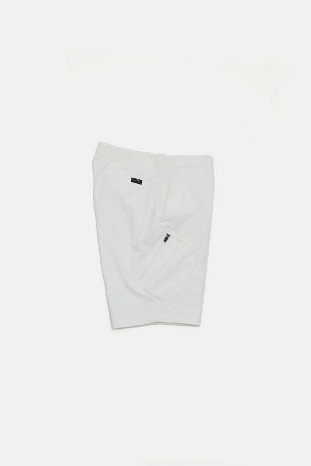 BJG Stretch Shorts w/Pkt/WHITE/BGW-P36