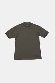 Mock Neck Polo/OLIVE/BGW-K26