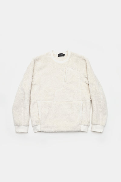 L/S 2 Side Sheep Boa Crew/WHITE/BGW-K07