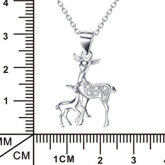 Fawn Pendant 925 Silver Necklace