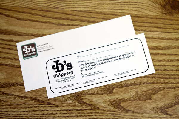 JD's Chippery Gift Card - $100