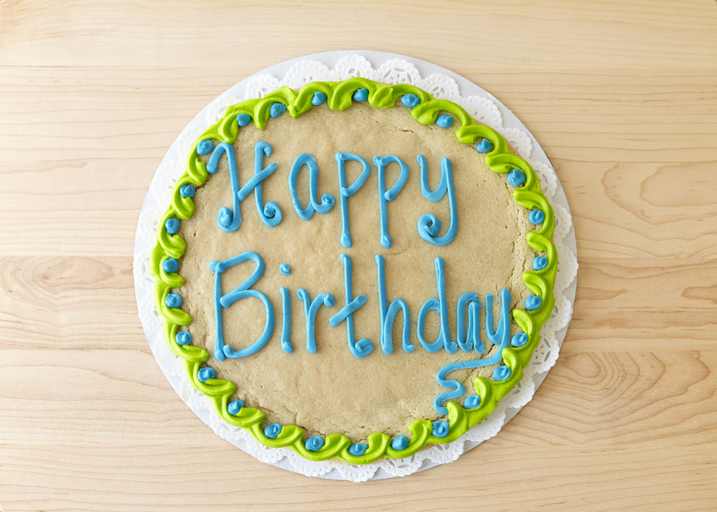 Pleasing Round Cookie Cake 10 Inch Jds Chippery Personalised Birthday Cards Veneteletsinfo