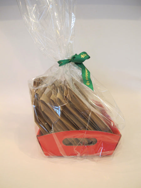 Red Market Tray with 18 INDIVIDUALLY wrapped Cookies