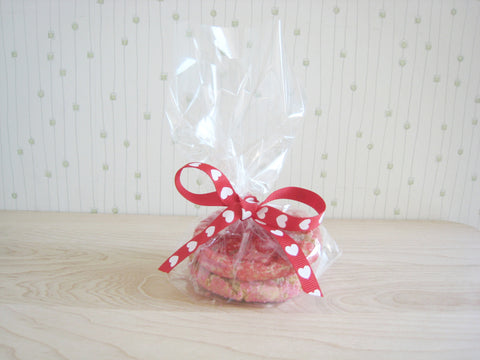 Cellophane Bag with Bow and 2 Cookies