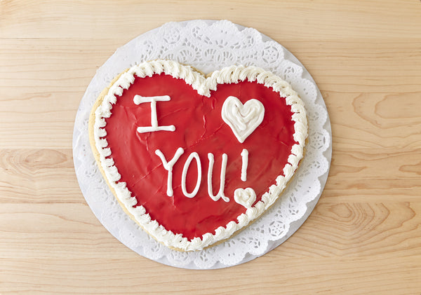 Valentine's Day Heart Shaped Cookie Cake 1.5lbs
