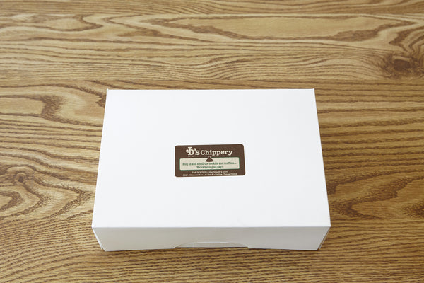 Bakery Box of One Dozen Mini Muffins: Non-cheese flavors