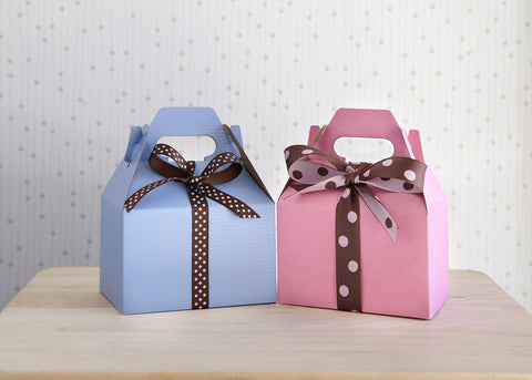 Pink Gable Box with 8 Cookies