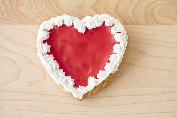 Valentine's Day Heart Shaped Cookie - Individual in Window Box Packaging