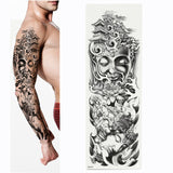 Full Arm Tattoo (Skeletons and Roses, Buddha)