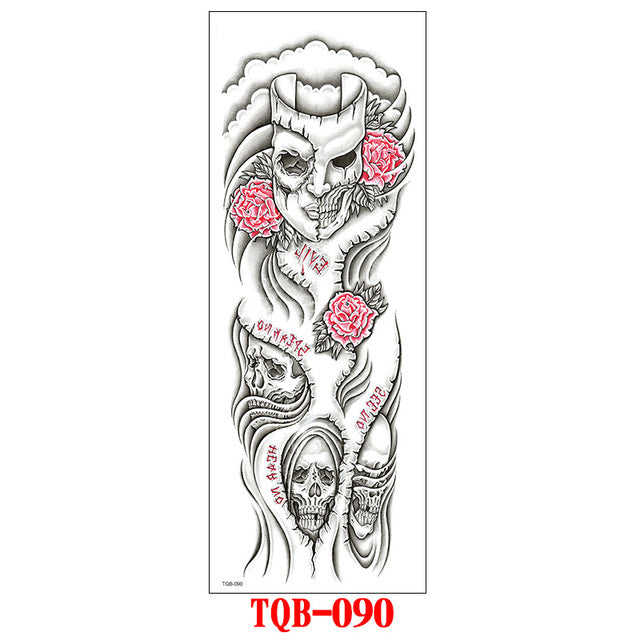 Full Sleeve Arm and Legs Tattoo (Oriental Dragon, Flowers)
