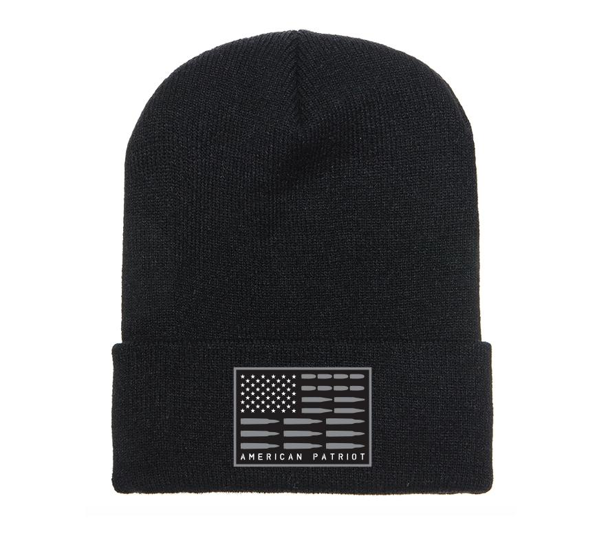 Mens Headwear - Patriot Flag Beanie