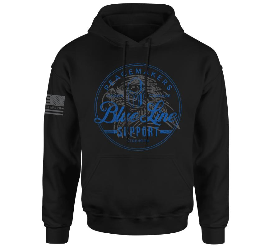 Blue Line Po Hood - Howitzer Clothing