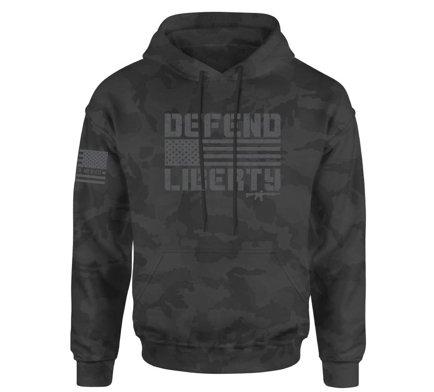 Mens Hooded Sweatshirts - Defend Liberty Co Po Hood