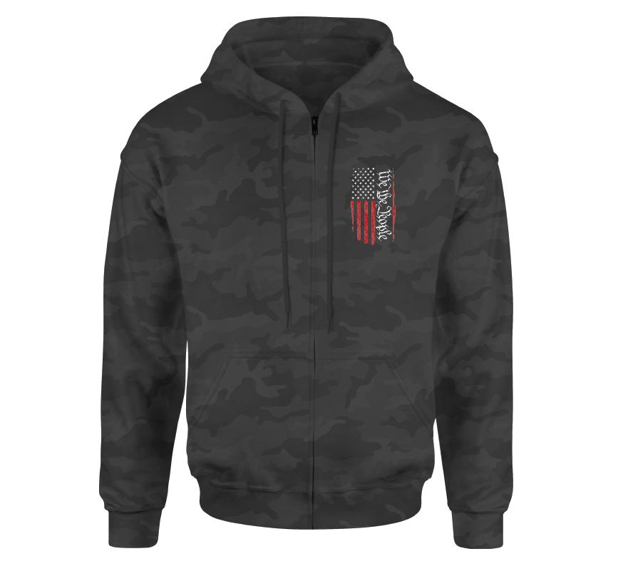 Mens Hooded Sweatshirts - People Zip Hood